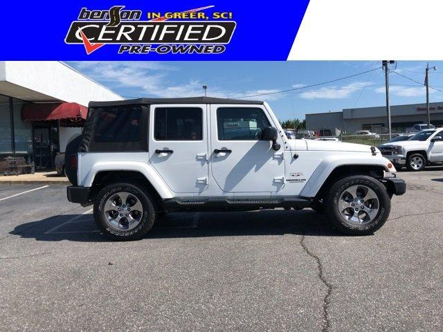 Certified 2016 Jeep Wrangler 4WD Unlimited Sahara