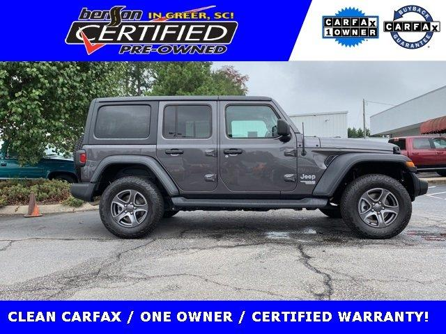 Certified 2018 Jeep Wrangler 4WD Unlimited Sport GREER,