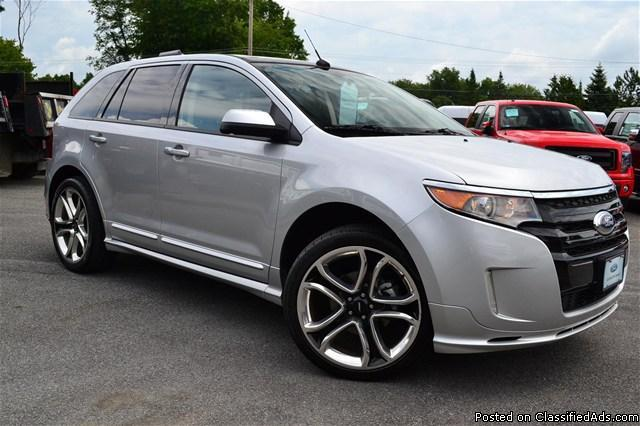 certified pre owned  ford edge sport awd