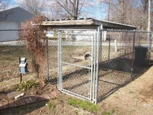 Chain link Dog Run with partial roof - $175 (Alma)