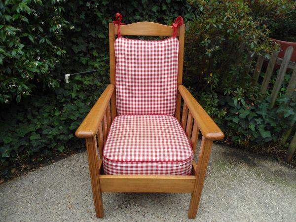 Chair Maple Arm Chair Solid Wood With Cushions
