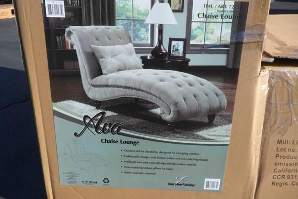 Chaise lounge tan ava chaise lounge includes pillow for Ava chaise lounge