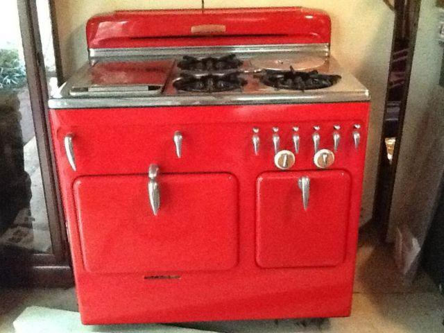 Chambers 1950 s Fire Engine Red Model 61 C Gas Stove