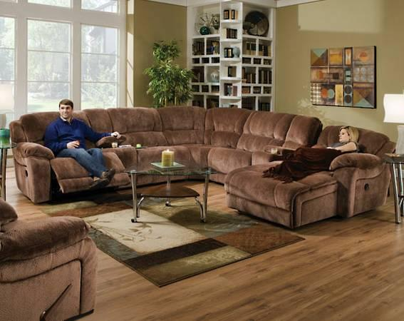 Championship Brownsugar Reclining Sectional For Sale In
