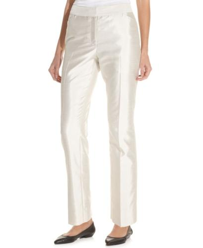 Charter Club Shantaung Straight-Leg Ankle Pants