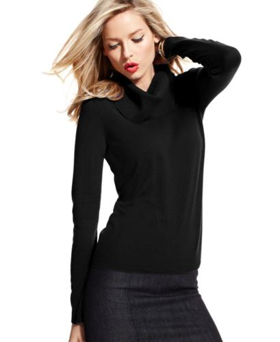 Charter Club Sweater, Long-Sleeve Cashmere Cowl-Neck