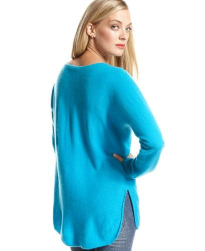 Charter Club Sweater, Long-Sleeve High-Low Cashmere Tunic