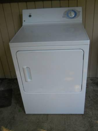 cheap ge gas dryer works perfect looks new will deliver