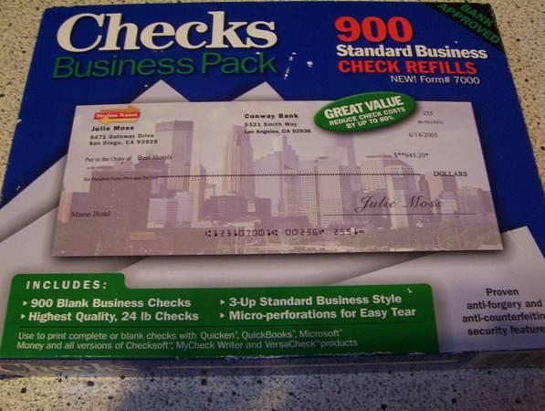 Checks Business Pack Business Check Refills For Sale In Laurys