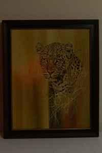 Cheetah painting - $100 (Va Beach)