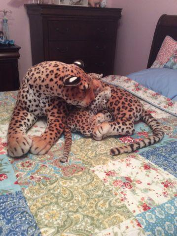 CHEETAH WITH CUB PLUSH