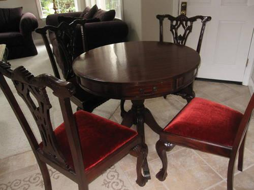Cherry Finish Table With 4 Chairs Lowest Price At Furniture PLUS For Sale In