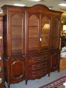 cherry french provincial style china cabinet sunrise