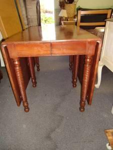 Cherry Gate Leg Table Drop Leaf Table 5 Chairs 7650 N