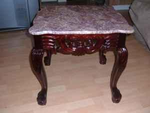 Cherry/Marble End Tables - $200 (Seminole, AL)