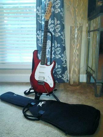 Cherry Red Raptor Peavey Plus Electric Guitar - $155