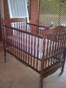 Cherry Wood Bassett Baby Crib Bed Mattress Odenville