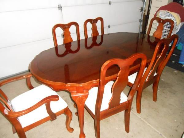 Cherry Wood Dining Table W 6 Chairs For Sale In