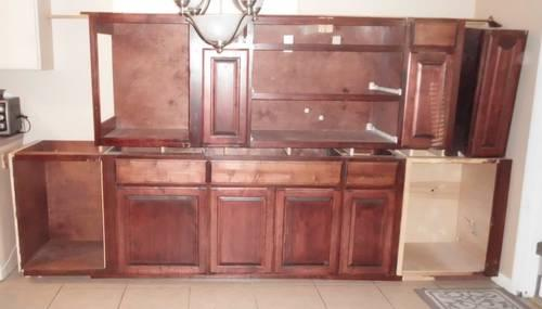 CHERRY WOOD KITCHEN CABINETS W/ GRANITE COUNTERTOPS for ...