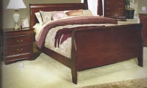 Cherry Wood Queen Sleigh Bed - $399 OKC-South of Outlet Mall on Council Rd