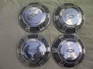 Chevrolet Dog Dish Hubcaps Chevelle Nova Impala Camaro 50 Rock Spring