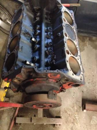 Chevy 350 engine 4 bolt main short block - $250