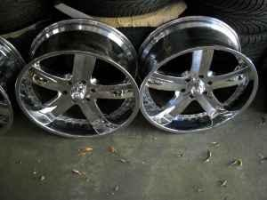 Hummers For Sale >> chevy 6 lug 22 inch chrome wheels and new tires - (rad ...