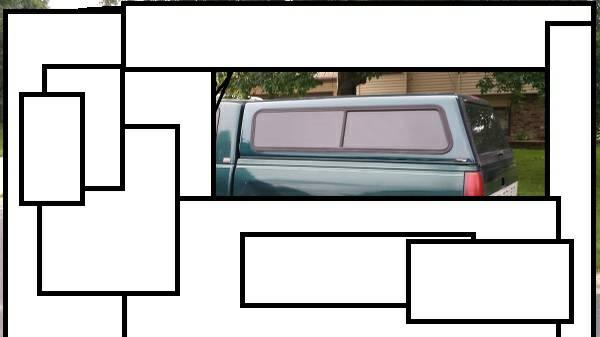 Chevy silverado topper --- 8 ft bed --- LOWERED the PRICE - $200