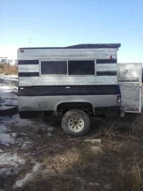 Chevy Truck Bed Trailer With Camper Shell Is Great For