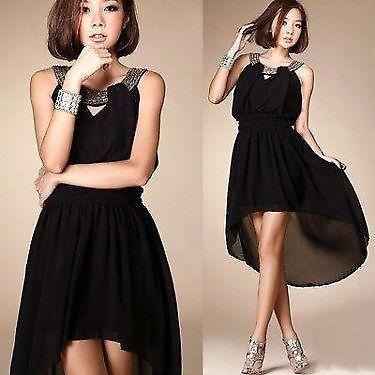 Chiffon Vogue Asymmetric Hemline Dress