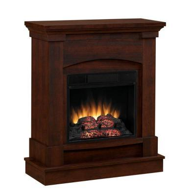 Chimney Free 31 In Space Saver Electric Fireplace In Cherry For