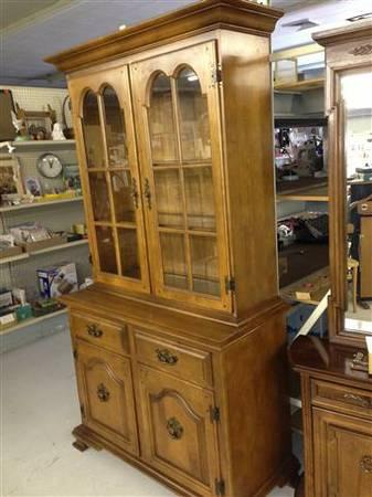 China Cabinet By Keller American Solid Maple For Sale In