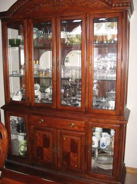 China Hutch And Dining Room Table 6/ 6 Chairs