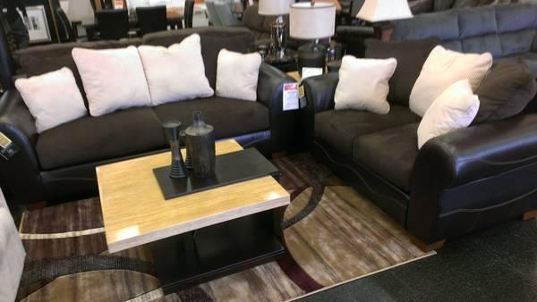 Chocolate And Cream Sofa U0026 Loveseat   $900