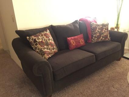 Chocolate Brown Chenille Couch