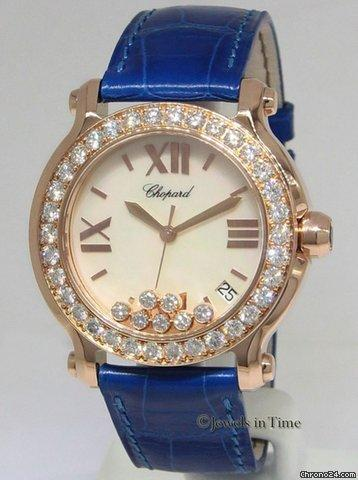 Chopard Happy Sport 18k Rose Gold Diamond Ladies 36mm