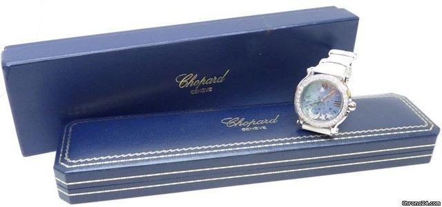 Chopard Happy Sport Diamond Floating Moon & Stars Blue