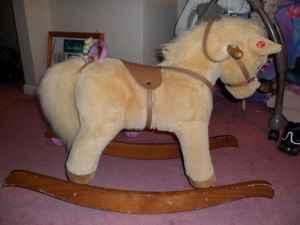 Chrisha Playful Plush Rocking Horse - $20 Middle River
