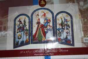 Christmas fireplace screen metal Madison for Sale in
