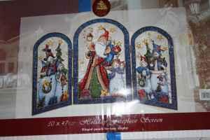 christmas fireplace screen metal 12 madison - Christmas Fireplace Screen