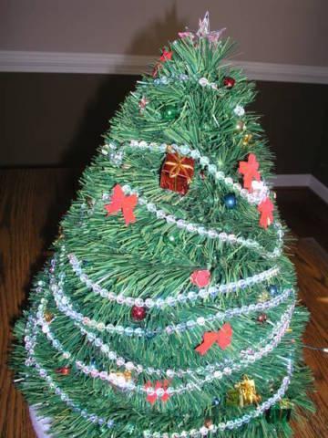 Christmas Tree Centerpiece Decorated, Lighted, Beautiful