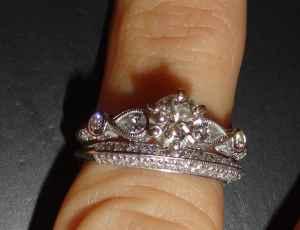 Christmas Vintage Look Engagement Ring Set 3500
