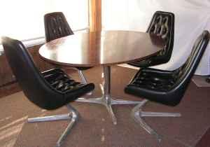 Chromcraft Sculpta Dining Set (of Star Trek Fame)