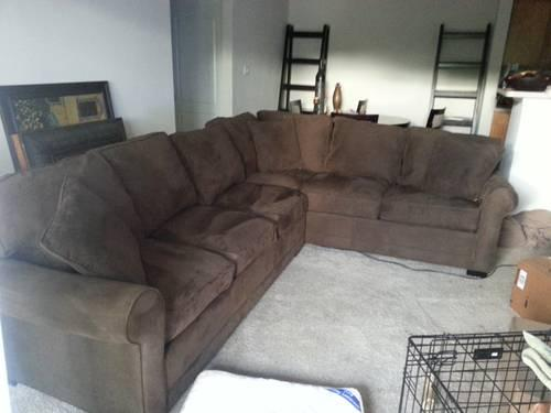 Cindy Crawford Chocolate Brown Sectional Sofa in good ...