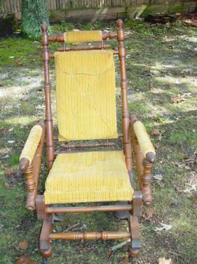 Circa 1800s Tufted Platform Rocker-EXCELLENT