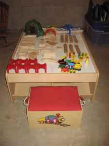 Circo Wooden Train Table With Track Trains And Extra