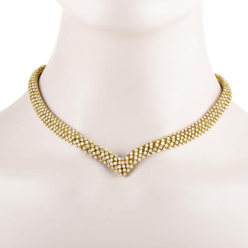 Citra Women's 18K Yellow Gold Full Diamond Pave Collar