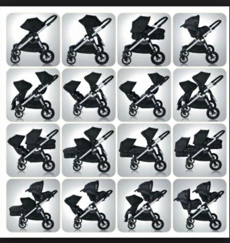City select baby jogger 2 seater with attachments