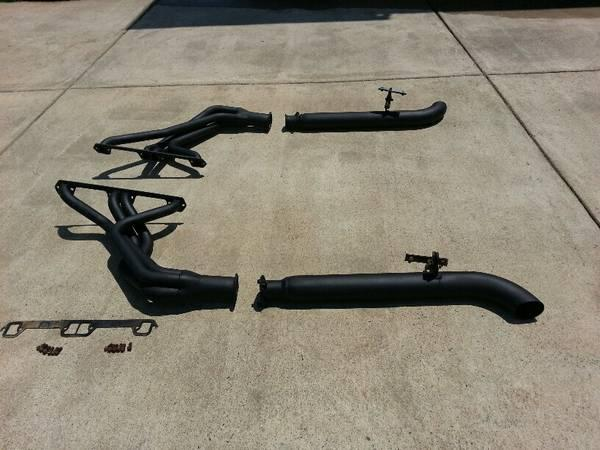 Cj7 Amc V8 Fenderwell Headers And Sidepipes For Sale In