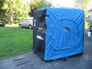 Clam 5600 ice fishing shanty watertown for sale in for Ice fishing shanty for sale